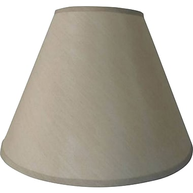 Fangio 14in. Faux Silk Empire Energy Lamp Shade, Cream