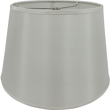 Fangio Lighting 14in. Faux Silk Drum Energy Lamp Shade, Cream