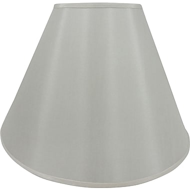 Fangio 17in. Faux Silk Empire Energy Lamp Shade, Cream