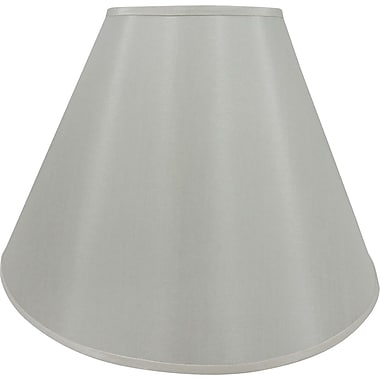 Fangio 18in. Faux Silk Empire Energy Lamp Shade, Cream