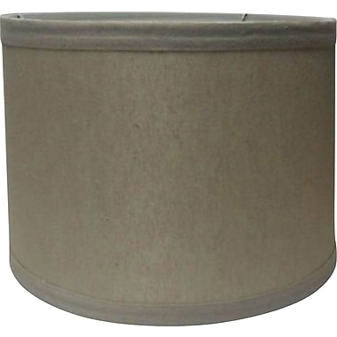 Fangio Lighting 16in. Linen Drum Energy Lamp Shade, Cream