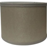 Fangio Lighting 16 Linen Drum Energy Lamp Shade, Cream