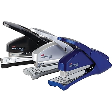 Staples One-Touch Aero Stapler, 20-Sheet Capacity, Assorted Colours