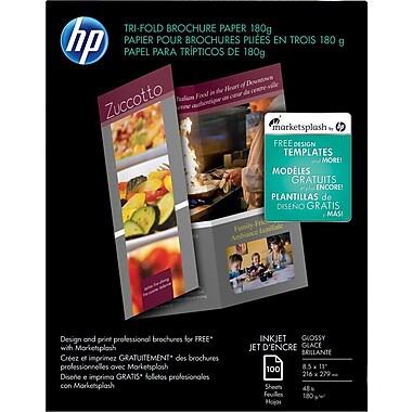 HP® Tri-Fold Brochure Paper, 8 1/2