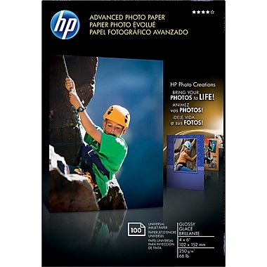 HP® Advanced Photo Paper, Glossy, 4