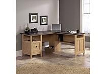 Sauder® August Hill™ L-Desk, Oak