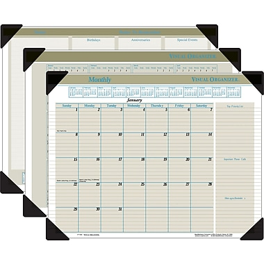 "2014 AT-A-GLANCE® Visual Organizer® Executive Desk Pad, 22"" x 17"""