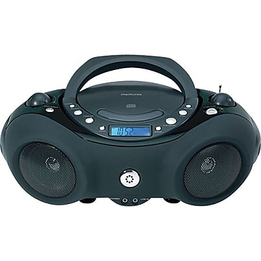 Memorex (MP3851BLK) Portable CD Boombox with AM/FM Radio, Black