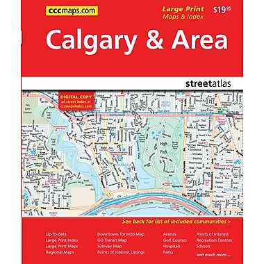 MapArt 2013 Calgary & Southern Alberta Street Guide