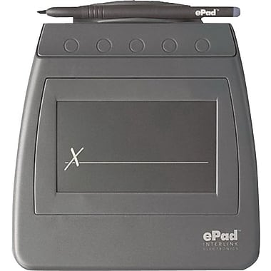 ePad™ 3 1/2in. (L) x 2.09in. (W) eSigning Surface Serial Semiconductor FSR Signature Pad