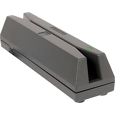MAGTEK® Gray Dual Track 4 Pin USB Type A 4 - 60 in/sec Magnetic Card Reader