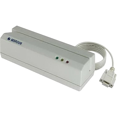 UIC ABS USB/RS-232 Read: 5 - 55 in/sec Write: 5 - 35 in/sec MSR206 Magnetic Card Reader/Writer