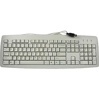 CHERRY® Light Gray 104 USB J82-16001 Reliable Business K-1 Keyboard