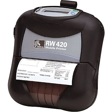 RW™ 203 dpi Color: 3 in/sec Monochrome: 14 in/sec Direct Thermal Series RW420 Receipt Printer