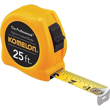 KOMELON® Nylon Coated Steel Professional Series Measuring Tape, 12 ft (L) x 5/8 in (W) Blade