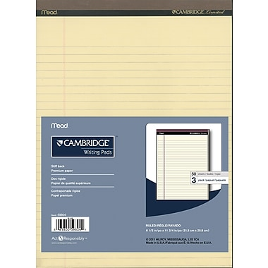 Cambridge® Perforated Pads, 8-1/2