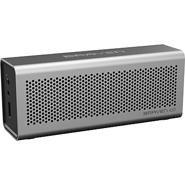 Braven 650 Wireless Portable Speaker, Silver