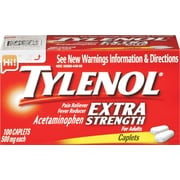 TYLENOL Pain Relief Extra Strength Caplets, 500 mg, 100 Count/Box (044909)