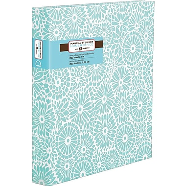 Martha Stewart Home Office™ with Avery™ 1in. Heavy Paper Binder with Slant-D Ring, Blue Floral