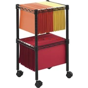 """Safco Letter/Legal 15 1/2""""W Two-Tier Compact File Cart with Wire Construction, Black (5221BL)"""