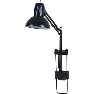 "Tensor 13-Watt CFL Swing Arm Cubicle Desk Lamp, Black, 18-37/50""H"