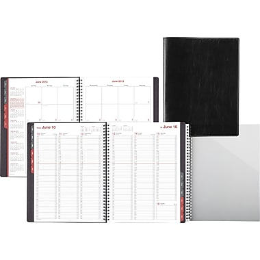 "2014 Day-Timer® Fashion Weekly/Monthly Appointment Book, 8"" x 11"", Black"