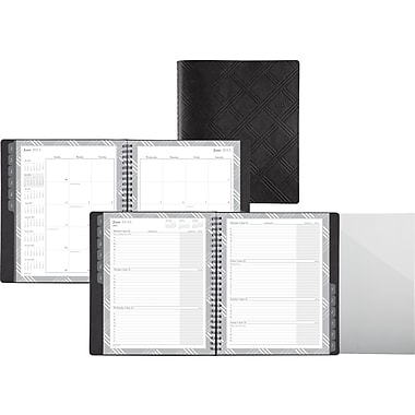 "2014 Day-Timer® Penchant Plaid Weekly/Monthly Appointment Book, 6 7/8"" x 8 3/4"""