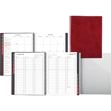 "2014 Day-Timer® Fashion Weekly/Monthly Appointment Book, 8"" x 11"", Red"