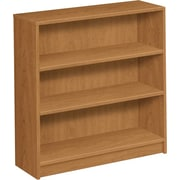 HON® 1870 Series Wood Laminate Bookcase, 3-Shelf, Harvest