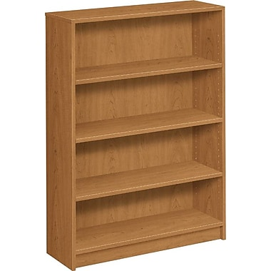 HON® 1870 Series Wood Laminate Bookcase, 4-Shelf, Harvest