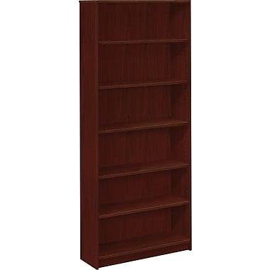 HON 1870 Series Wood Laminate Bookcases - 6-Shelf 84in., Mahogany