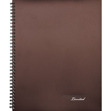 Mead Cambridge Limited Legal Ruled Business Notebook, Brown, 7in. x 9in.