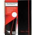 Black N' Red Polypropylene Notebook with Elastic Strap, 8-1/2in. x 11in.