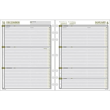 2014 Day Runner® Weekly Calendar Planner Refill, 8 1/2in. x 11in.