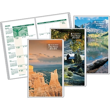 2013 AT-A-GLANCE® Scenic 2 Year Monthly Pocket Planner, 4in. x 6in.