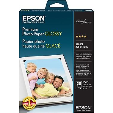 Epson® - Papier photo de première qualité, lustré, 5 x 7 po, paq./20