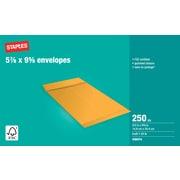 "Staples® Envelopes Kraft Catalogue 5-7/8"" x 9-5/8"", 250/Box - Gummed"
