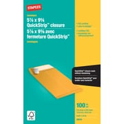 "Staples® Envelopes Kraft Catalogue 5-7/8"" x 9-5/8"", 100/Box - QuickStrip"
