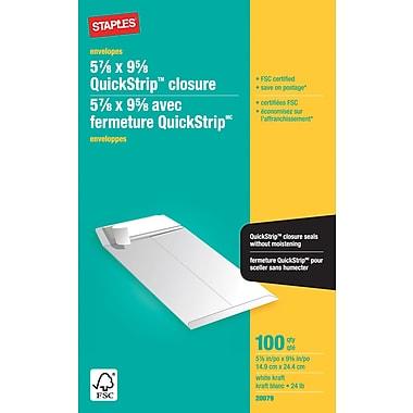 Staples® – Enveloppes blanches pour catalogue, 5 7/8 po x 9 5/8 po, bte/100,