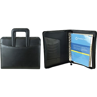 FranklinCovey® Monarch Size Zip Around 7-Ring Binder With Sliding Handles
