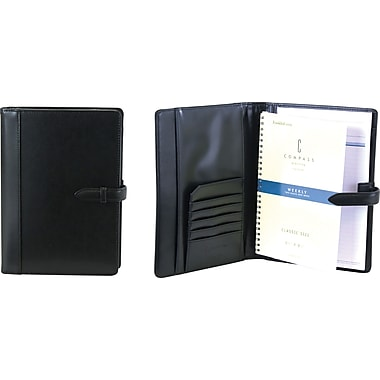 FranklinCovey® Classic Size Open Style Wirebound Agenda With Strap Loop Closure