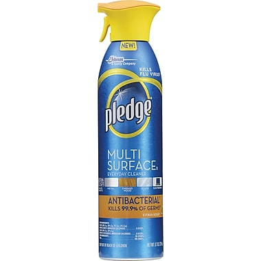 Pledge® Multi Surface Everyday Cleaner, Antibacterial, 9.7 oz.