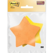 "Post-it® Super Sticky Star Notes, 3"" x 3"", Yellow, 150 Sheets/Pad"