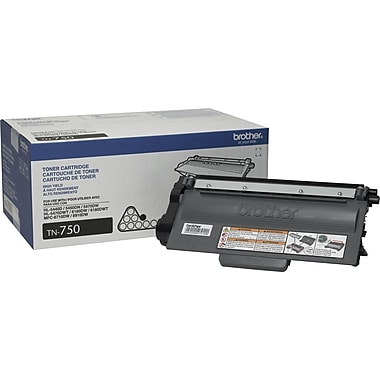 Brother TN-750 Black Toner Cartridge, High Yield
