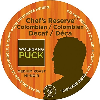 Keurig® K-Cup® Wolfgang Puck Chef's Reserve™ Columbian Decaf Coffee, Decaffeinated, 24/Pack