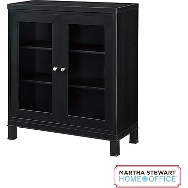 Martha Stewart Home Office Chase Bookcase, Coal Black