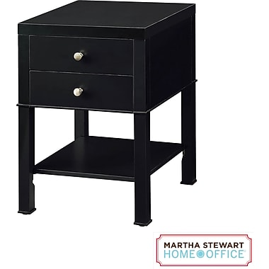 Martha Stewart Home Office Chase Small Cabinet, Coal Black