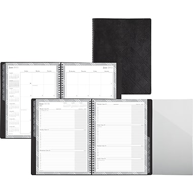 "2014 Day-Timer® Penchant Plaid Weekly/Monthly Appointment Book, 8"" x 11"""
