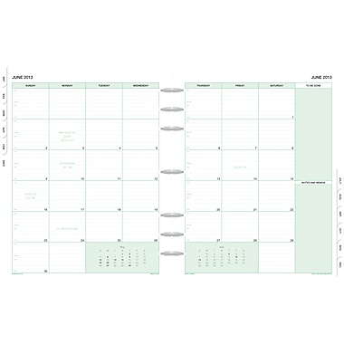 2014 Day-Timer® Monthly Classic Refill, 8 1/2in. x 11in.