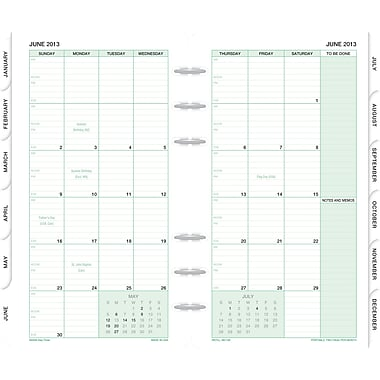 2014 Day-Timer® Monthly Classic Refill, 3 3/4in. x 6 3/4in.